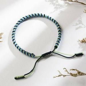 Other - Mens Rope Navy Blue Green Bracelet Handmade